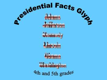 Informational Text Facts About the Presidents Glyph Grades 4 and 5