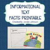 Informational Text Facts Printable