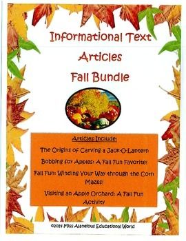 Informational Text: Fall Bundle of Articles