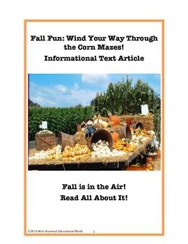 Informational Text: Fall Fun Winding Through a Corn Maze!