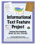 Informational Text Feature Project, Rubric and Chart