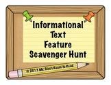 Informational Text Feature Scavenger Hunt