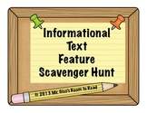 Informational Text Feature Scavenger Hunt