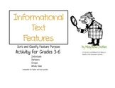 Informational Text Feature Sort and Classify