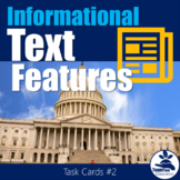 Informational Text Feature Task Cards 2 (Nonfiction)