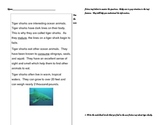 Informational Text Features Activity/Assessment ~ Tiger Sharks