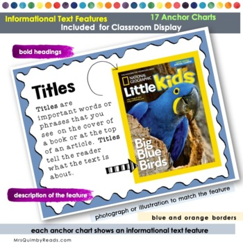 Informational Text Features | Anchor Charts | [Non-Fiction Text]