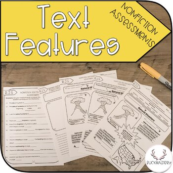 Informational Text Features Assessments