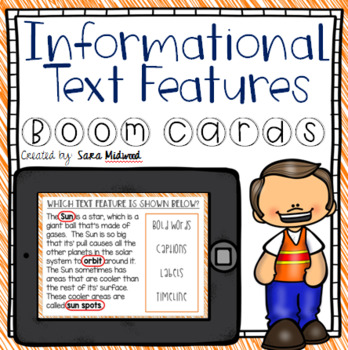Informational Text Features Boom Cards