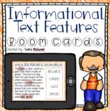 Informational Text Features Boom Cards   Distance Learning