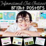Informational Text Features Posters with Definitions & Examples