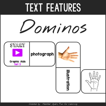 Informational Text Features Dominoes
