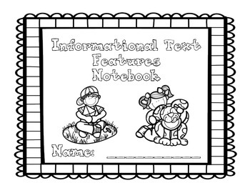 Informational Text Features Posters and Notebook - Grades K-2