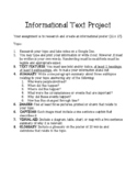 Informational Text Features Project