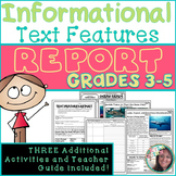 Nonfiction text features, text features, Informational Text Features, Activities
