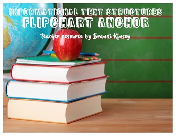 Informational Text Features/Structures Flipchart Anchor Notes