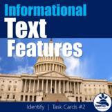 Informational Text Features Task Cards 2 (Identify)
