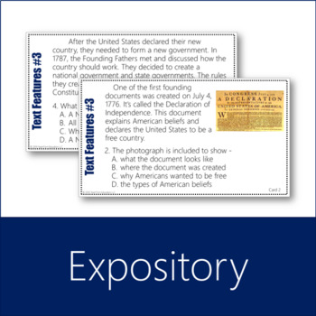 Informational Text Features Task Cards Bundle 1
