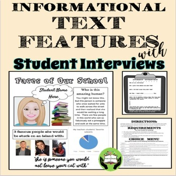 FREE:  Informational Text Features with Student Interviews