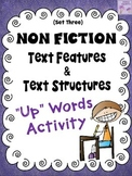 "Informational Text Features and Structures ""Up""-Words Activity (Set Three)"