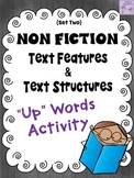 "Informational Text Features and Structures ""Up""-Words Activity (Set Two)"