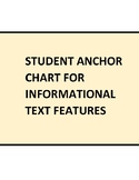 Student Anchor Chart for Locating Informational Text Features