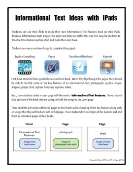 Informational Text Features with iPads