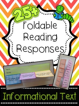 Informational Text Foldable Reading Responses - Common Cor