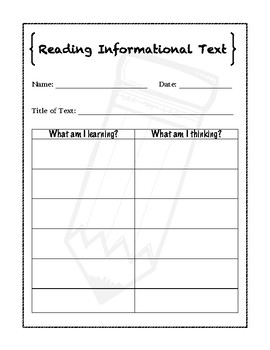 Informational Text Graphic Organizer