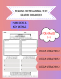 Informational Text Graphic Organizer: Main Ideas and Key Details