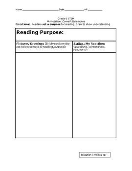 Informational Text Graphic Organizer with Differentiated Version Editable
