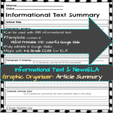 Article Summary (NewsELA & Informational Text Graphic Organizers)