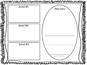 Informational Text Graphic Organizers for 1st Grade