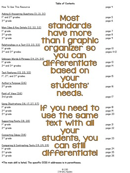 Informational Text Graphic Organizers Reading Grades 1-3