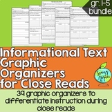 Informational Text Graphic Organizers, Reading Bundle