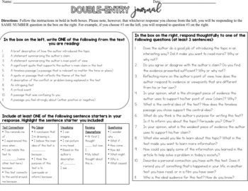 Informational Text Graphic Organizers for Middle School