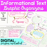Informational Text Graphic Organizers for Middle School DIGITAL and PRINT