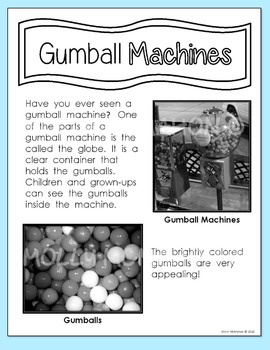 Informational Text Gumball Machines