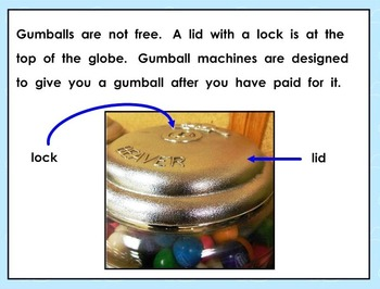 Informational Text Gumball Machines SMART Notebook