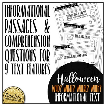 Informational Text: Halloween | Reading Comprehension Passages and Questions