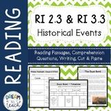 Informational Text - Historical Events RI 2.3 & RI 3.3 Cau