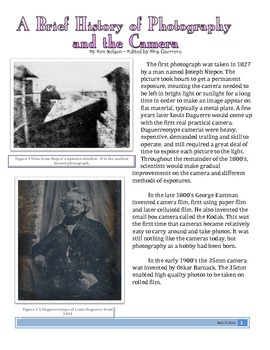 Informational Text: History of Photography
