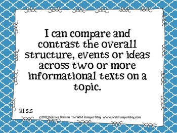 "Informational Text ""I Can"" Statements {Gr. 5 CCSS Aligned} Mega Bundle"