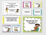 """Informational Text """"I Can"""" Statements {Gr. 5 CCSS Aligned}"""