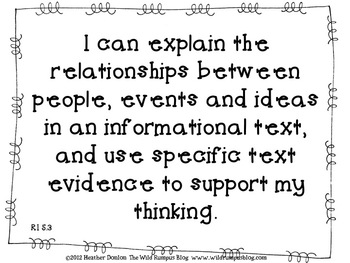 "Informational Text ""I Can"" Statements {Grade 5 CCSS Aligned} Black & White"