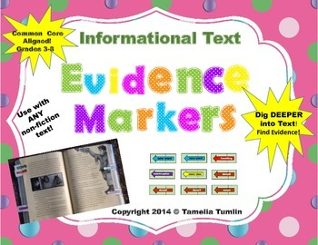 (Informational Text) Close Reading Interactive Evidence Markers  Grades 3-8