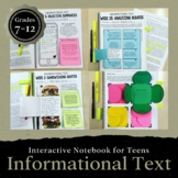 Informational Text Interactive Notebook for ANY Text: Grades 7-12