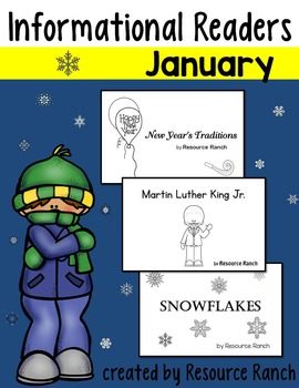 January Readers New Year's|Martin Luther King Jr.|Snowflakes
