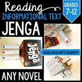 Informational Text Jenga: Grades 7-12
