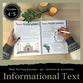 Informational Text Journal: 30+ Articles and Activities for Grades 4-5